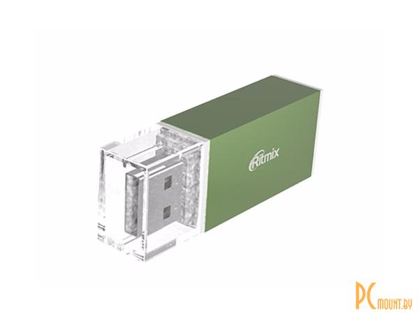 flash cardreader ritmix cr-2042 green