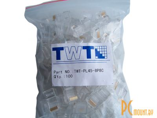 lan connector rj45con 5e twt-pl45-8p8c 100pcs