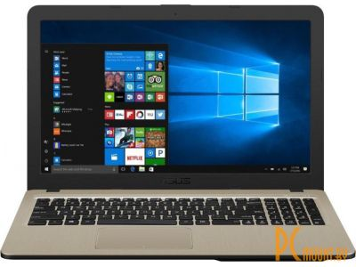 "фото Ноутбук Asus VivoBook X540NV-GQ004 Chocolate Black, 15.6"", HD, 1366x768 pixels, Matt, Intel Pentium, N4200, 4GB, DDR3, HDD 500GB, 5400RPM, NVIDIA GeForce 920MX, 2GB, Without ODD, Endless OS, 802.11 ac, Bluetooth version 4.0, Keyboard language English"