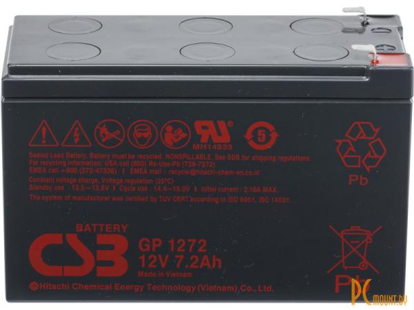 Источник бесперебойного питания UPS Аккумулятор CSB GP1272 F2/GP1272 (12V/7.2Ah)