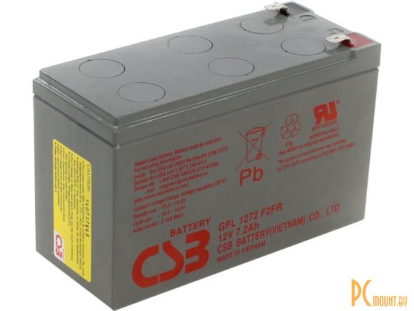 Источник бесперебойного питания UPS Аккумулятор CSB GPL 1272 F2 FR 12V/7.2Ah срок службы до 10 лет