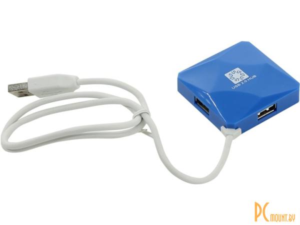 фото USB 2.0 хаб, 5bites HB24-202BL
