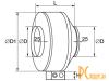 Канальные вентиляторы: Shuft Tube 125 XL TUBE 125 XL