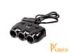 Автомобильное зарядное устройство с разветвителем прикуривателя на три разъёма Ritmix RM-3123DC Black