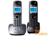 Радиотелефон Panasonic KX-TG2512RU2 Dect, две трубки, цвет серый металлик / темно-серый металлик