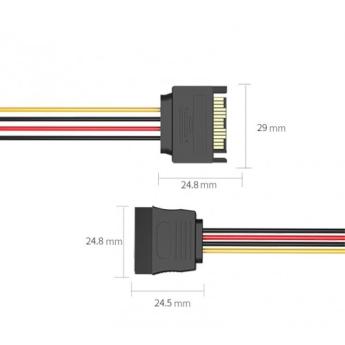 PCI-E (Riser) / SATA / eSATA / IDE / MOLEX: кабель Vention SATA 15 pin M/SATA 15 pin F Black 0.3m  KDABY