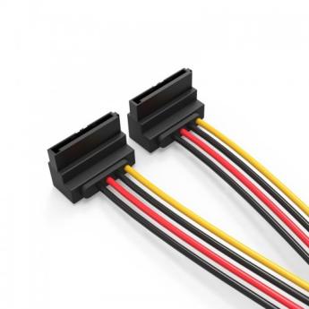 PCI-E (Riser) / SATA / eSATA / IDE / MOLEX: кабель Vention SATA 15-pin/M - 2x SATA 15-pin/F 15cm  KDBBB