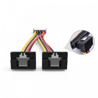PCI-E (Riser) / SATA / eSATA / IDE / MOLEX: кабель Vention Molex 4-pin/M - 2x SATA 15-pin/F 15cm  KDCBB
