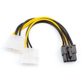 PCI-E (Riser) / SATA / eSATA / IDE / MOLEX: кабель ATcom 8-pin - 2x Molex  AT8604
