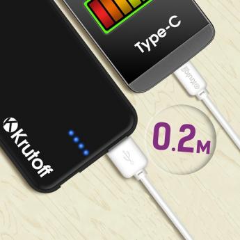 USB A/B/Micro/Mini/Type-C: Krutoff Classic USB - USB Type-C 20cm White 14855