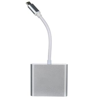 USB A/B/Micro/Mini/Type-C: Telecom USB Type-C /M to HDMI + USB3.0 + PD Charging 4K TUC010