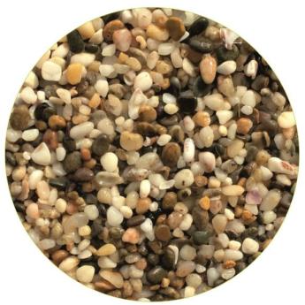 Грунты для аквариумов и террариумов: галька Эко грунт Феодосия мини 1-3mm 3.kg  г-0014