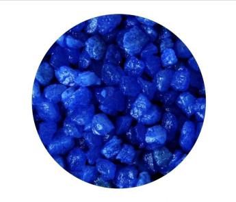 Грунты для аквариумов и террариумов: цветная мраморная крошка Эко грунт 5-10mm 3.5kg Blue  г-0243