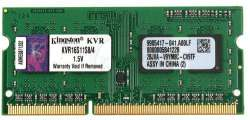 nbram ddr3 4g 1600 kingston kvr16s11s8-4