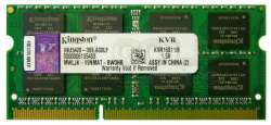 nbram ddr3 8g 1600 kingston kvr16s11-8