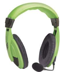 headphone defender hn-750 green+microphone