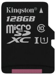 flash microsdxc 128g class10 uhs-1 kingston sdc10g2-128gbsp
