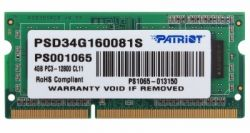 nbram ddr3 4g 1600 patriot psd34g160081s