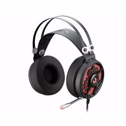 headphone a4 bloody m660 black-red+microphone