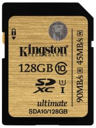 flash sdxc 128g class10 uhs-1 kingston sda10-128gb