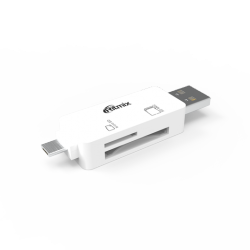 flash cardreader ritmix cr-2043g white