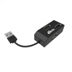 usb ritmix cr-2403 black 4port