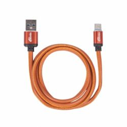 cable usb type-c ritmix rcc-435 leather 1m