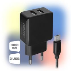 smartaccs charger ginzzu ga-3312ub black