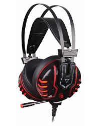 headphone a4 bloody m615 black-red+microphone