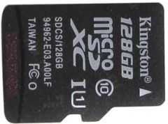 flash microsdxc 128g class10 uhs-1 kingston sdcs-128gb