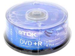 media dvd+r tdk 4g7 16x cake25