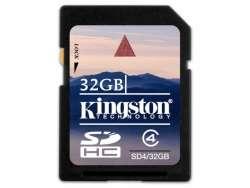 flash sdhc 32g class4 kingston sd4-32gb