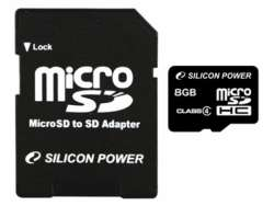 flash microsdhc 8g class4 silicon power sp008gbsth004v10-sp