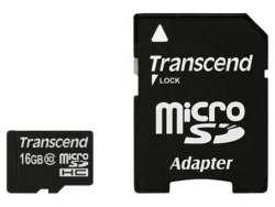 flash microsdhc 16g class10 transcend ts16gusdhc10