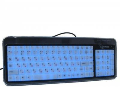 kbd gembird kb-9845lu-r black-light