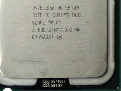 cpu s-775 core2duo-e8400 oem