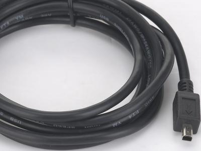 cable usb 2 mini 4p black