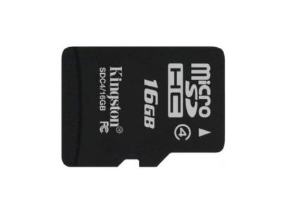 flash microsdhc 16g class4 kingston sdc4-16gb