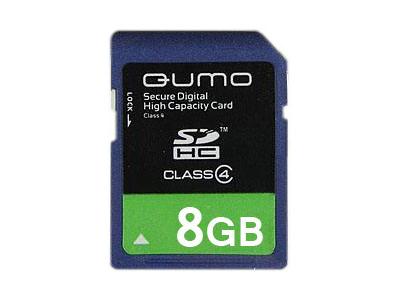 flash sdhc 8g class4 qumo