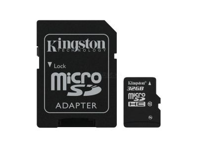 flash microsdhc 32g class10 kingston sdc10-32gb