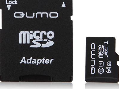 flash microsdxc 64g class10 uhs-1 qumo qm64gmicsdxc10u1
