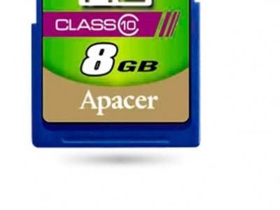 flash sdhc 8g class10 apacer ap8gsdhc10-r
