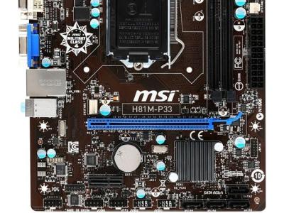 mb msi h81m-p33