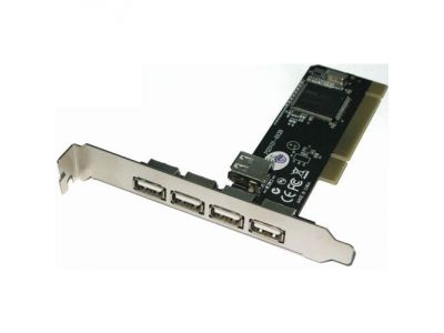 adapter stlab u143 pci usb2 4+1port