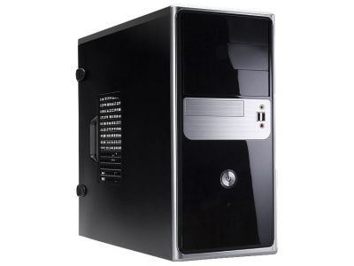 case inwin ear019 rb-s600bq3 black-silver