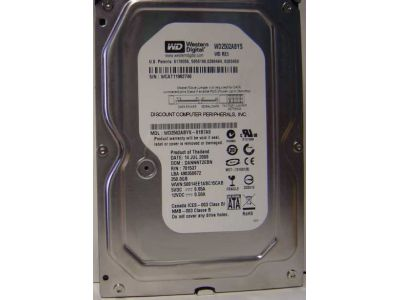 discount hdd wd 250 wd2502abys used