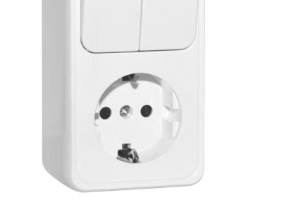 electro blok dvuhmestniy sven se-65351 white