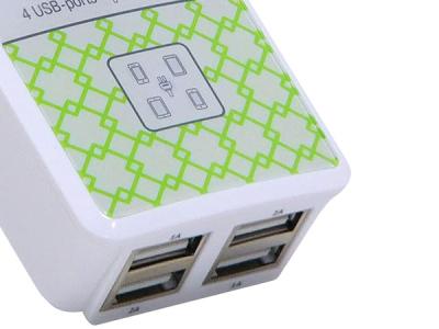 smartaccs charger qumo 4port-usb 5v-5a white