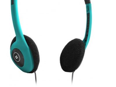headphone defender hn-001 turquoise+microphone