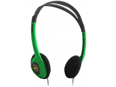 headphone defender hn-001 green+microphone